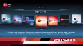 Cnet TV app for Popcorn Hour Apps Market