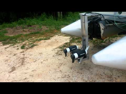 Minn kota rt160 engine mount electric pontoon boat youtube for Minn kota trolling motors for pontoon boats