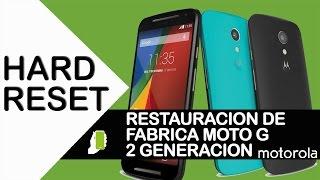 Motorola G Segunda Generacion  ( HARD RESET ) Restauración De Fabrica HD