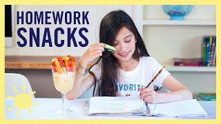 EAT | 5 Homework Snacks Kids Can Make!!