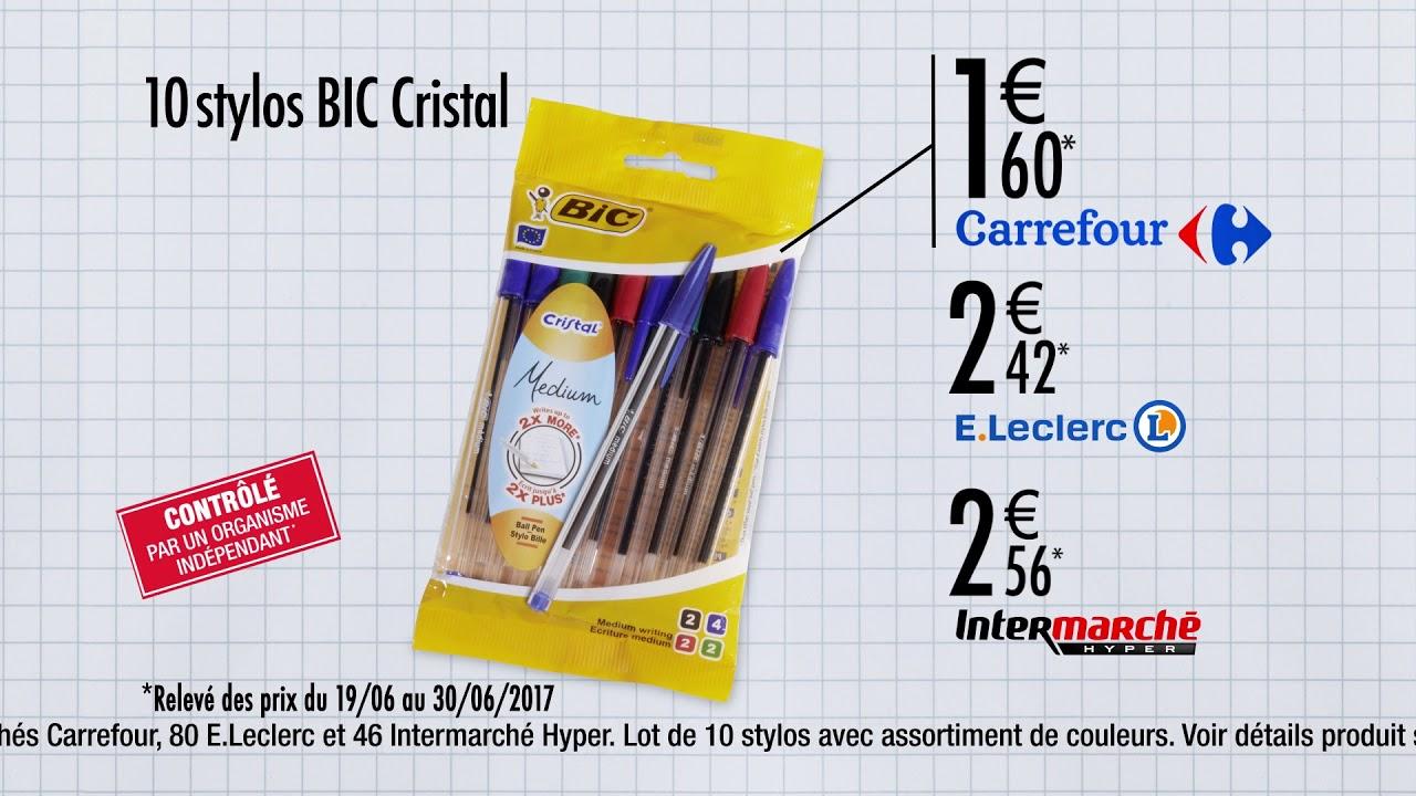 Fabuleux le lot de stylos bic cristal le moins cher cest chez carrefour  YT79