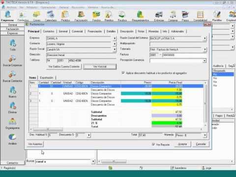 Curso básico de facturación 13-07-2012 (v 6.7.x) - YouTube