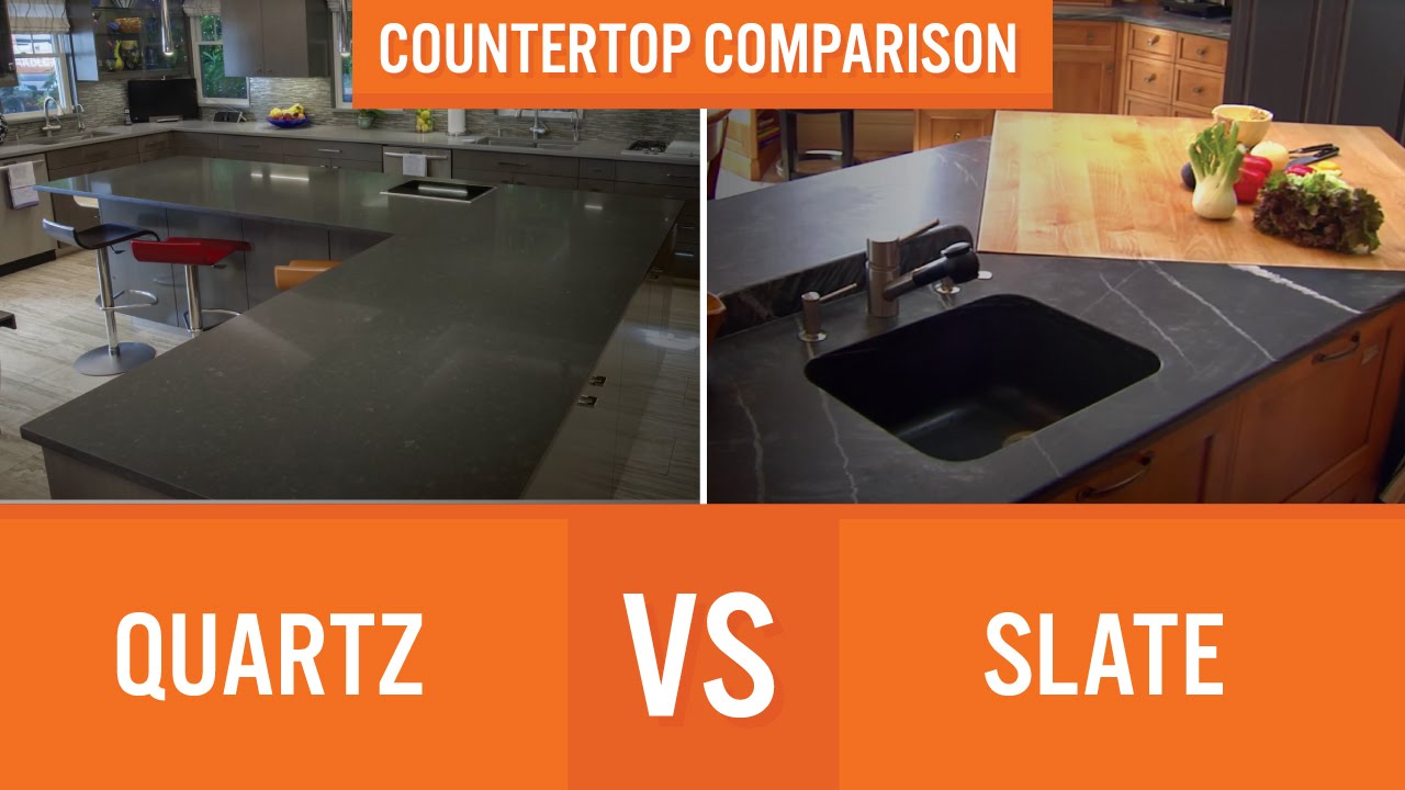 Quartz vs Slate | Countertop Comparison