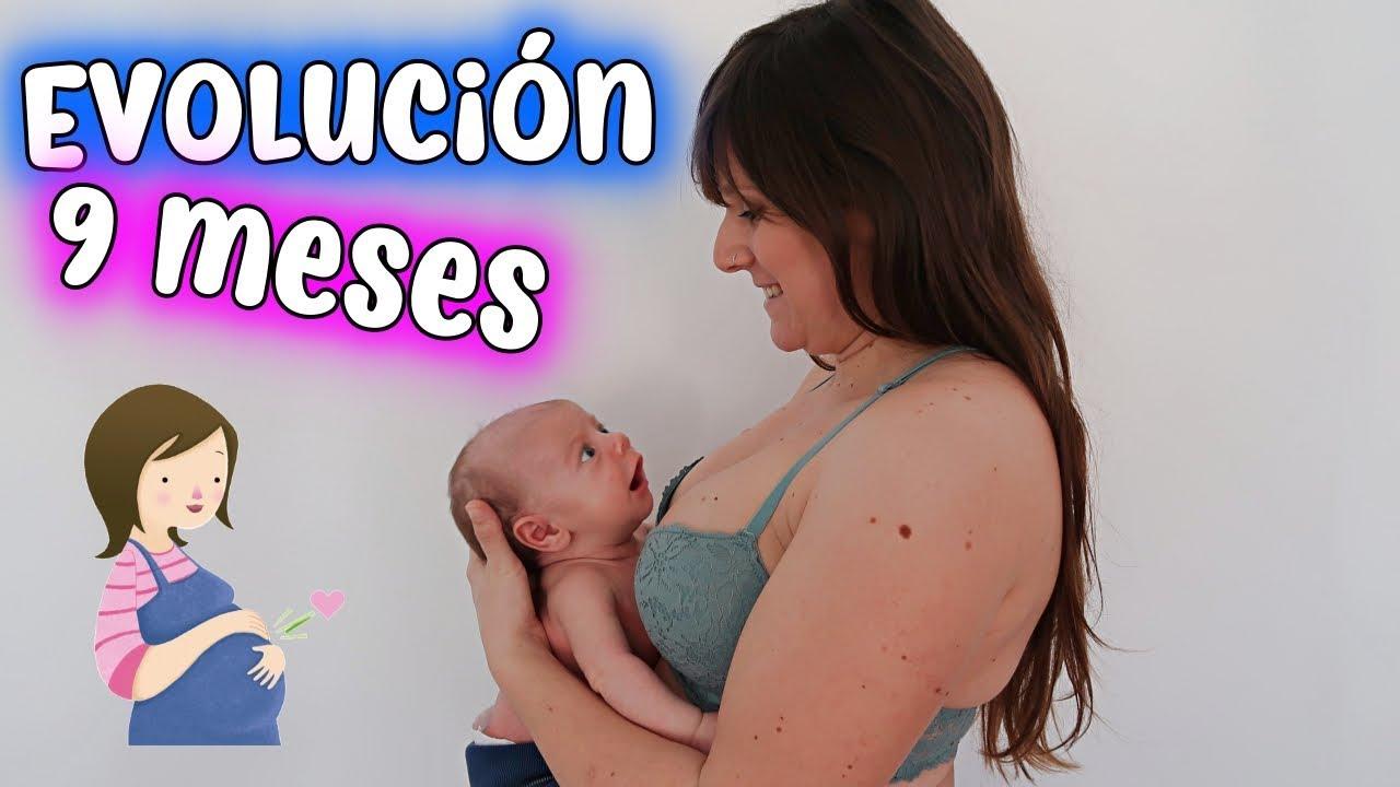 8a7ecbed5 Evolución 9 MESES DE EMBARAZO 🤰🏻 PRIMER MES DE VIDA DE KAI😍 - YouTube