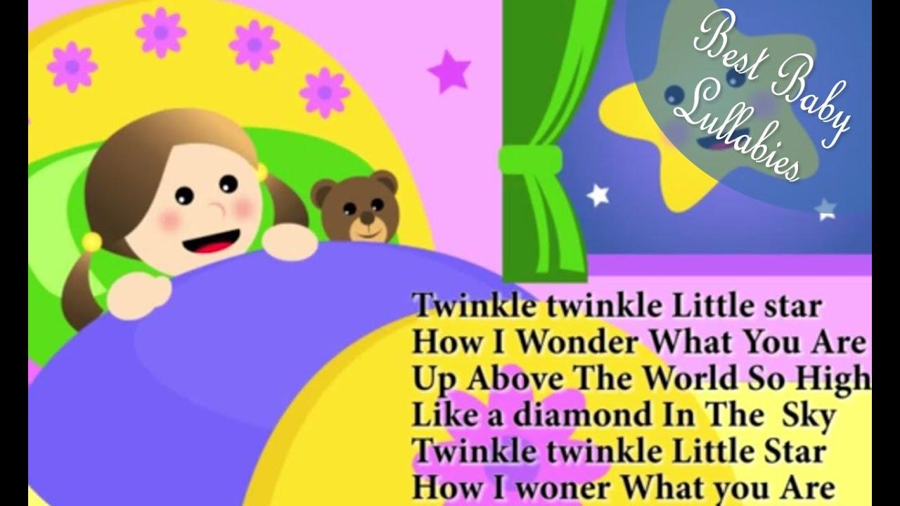 Le Little Star Lyrics Lullabies Lullaby For Babies To Go Sleep Baby Songs Music