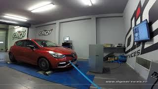 Renault Clio 4 rs trophy 220cv AUTO Reprogrammation Moteur @ 252cv Digiservices Paris 77 Dyno
