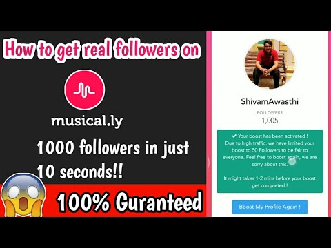 (expired)How to get free followers on musically|grow your musically profile