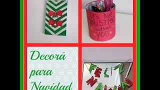 3 DIYs para Decorar para Navidad! (Parte 1) - Belu Thumbnail