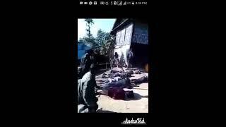 Torture of Rohingya Muslims by Myanmar army. সেনাবাহিনী দ্বারা রোহিঙ্গা মুসলিমদের নির্যাতন