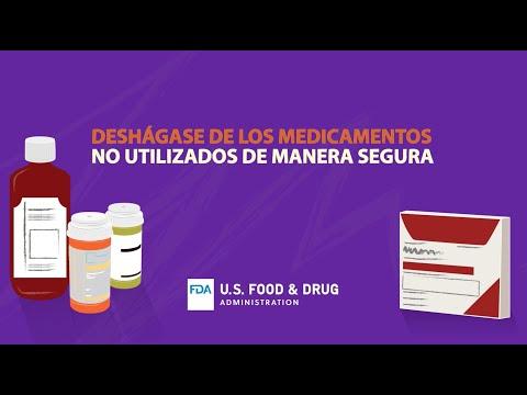 Cómo deshacerse de manera segura de medicamentos no utilizados o caducados (FDA)