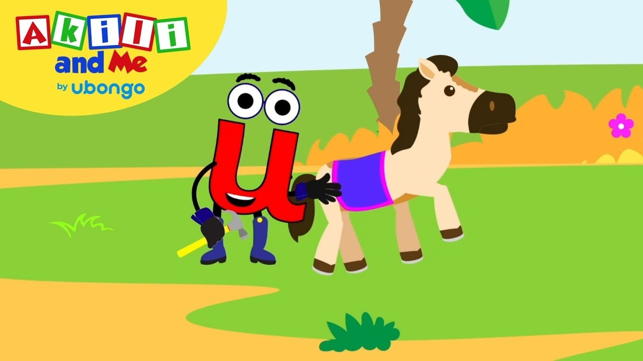 Learn Letter U!   The Alphabet with Akili   Cartoons for Preschoolers
