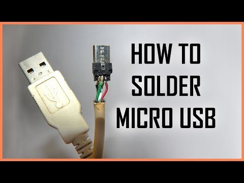 How To Solder Male Micro Usb Connector Youtube