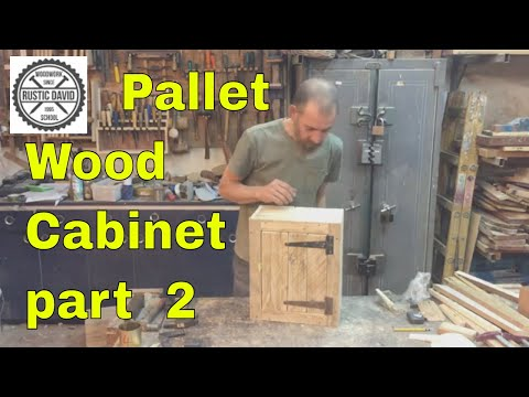 How To Build A Pallet Wood Cabinet part2