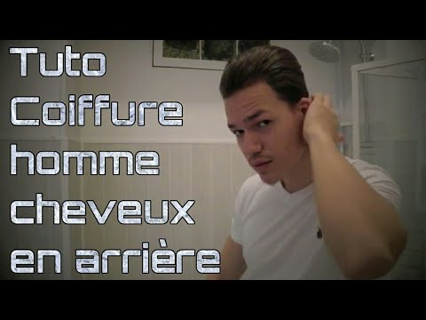 tuto coiffure homme cheveux en arri re youtube. Black Bedroom Furniture Sets. Home Design Ideas