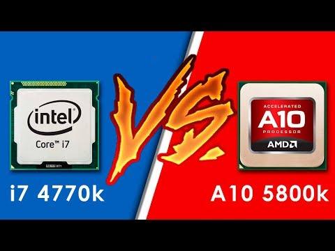 Comparación Intel Core i7 4770k vs AMD A10 5800k