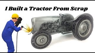 I BUILT A VINTAGE MASSEY FERGUSON TRACTOR SCULPTURE FROM WELDING RECYCLED SCRAP METAL