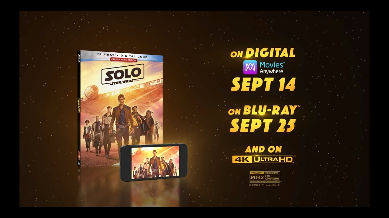 Solo: A Star Wars Story Blu-Ray - Official® Trailer [HD]