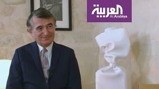 لقاء قصير مع وزير خارجية فرنسا السابق
