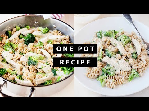 Chicken And Broccoli Alfredo Pasta | Easy Skillet Meal