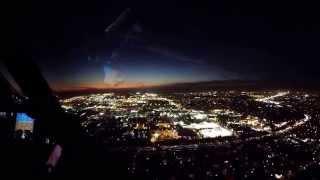 Los Angeles LAX night landing B787 Dreamliner cockpit view
