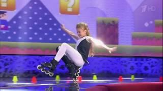 Юная роллерша Софья Богданова. Выступление на шоу Лучше всех.