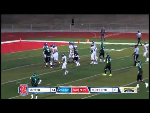 Sutter QB #14 Randy Post passes to WR #1 Tyjuan Prince for the 30 yard TD