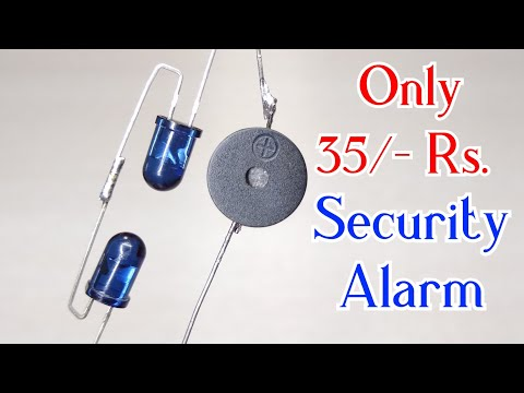 DIY Simple Door Security Alarm System | Electronic project |