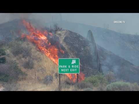 Santa Clarita Brush Fire Part 2