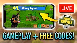 Fortnite Mobile VICTORY ROYALE! (FREE CODE Giveaway + Ultra Graphics)