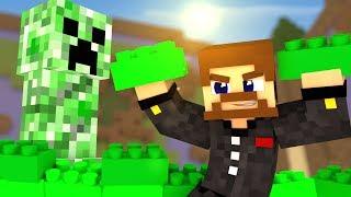 СТРОИМ КРИПЕРА ИЗ LEGO КУБИКОВ В МАЙНКРАФТЕ - Minecraft LEGO БИТВА СТРОИТЕЛЕЙ