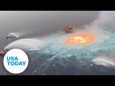 Gas pipeline fire boils underwater in the Gulf of Mexico | USA TODAY