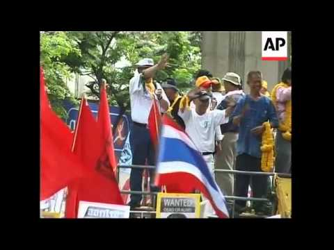 Protests continue against prime minister Thaksin