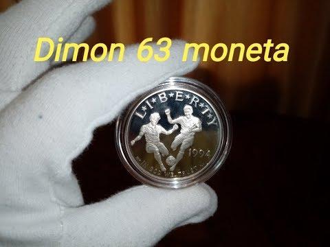 Памятная монета США 1 доллар 1994 года / One US Dollar Football World Cup