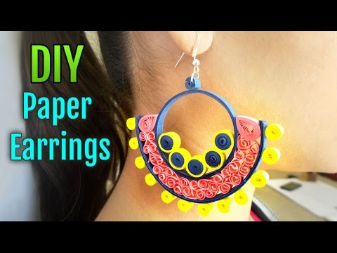 225e0b8ad How to Make Quilled Paper Earrings for Party | Handmade Paper Jewelry Making