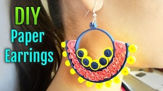 How to Make Quilled Paper Earrings for Party | Handmade Paper Jewelry Making