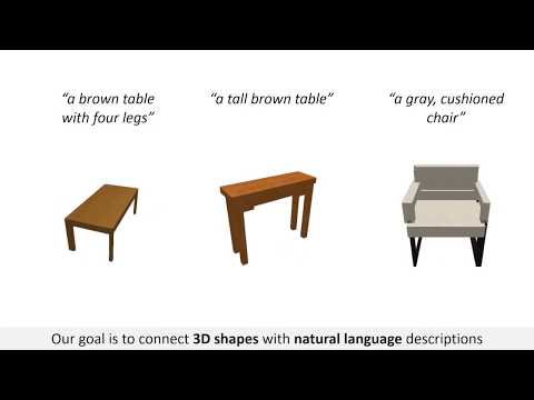 Text2Shape: Generating Shapes from Natural Language by Learning Joint Embeddings