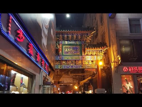 Beijing walking through Donghuamen night market