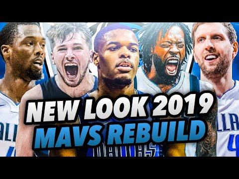 NEW LOOK 2019 DALLAS MAVERICKS REBUILD! NBA 2K18 MY LEAGUE!