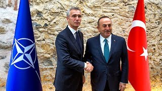 NATO Secretary General with Minister of Foreign Affairs of Turkey Mevlüt Çavuşoğlu, 11 OCT 2019