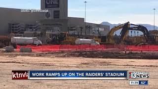 Raiders set up live webcam to follow Las Vegas Stadium construction