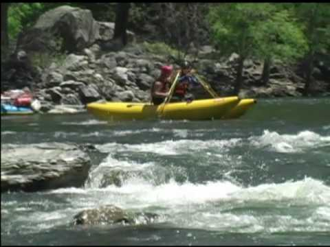 Shredding the Tuolumne River Whitewater Hyside Paddle Cat Action Clavey  Falls