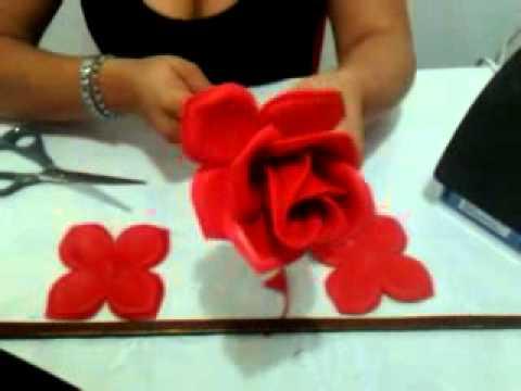 Rosa de foamy - YouTube
