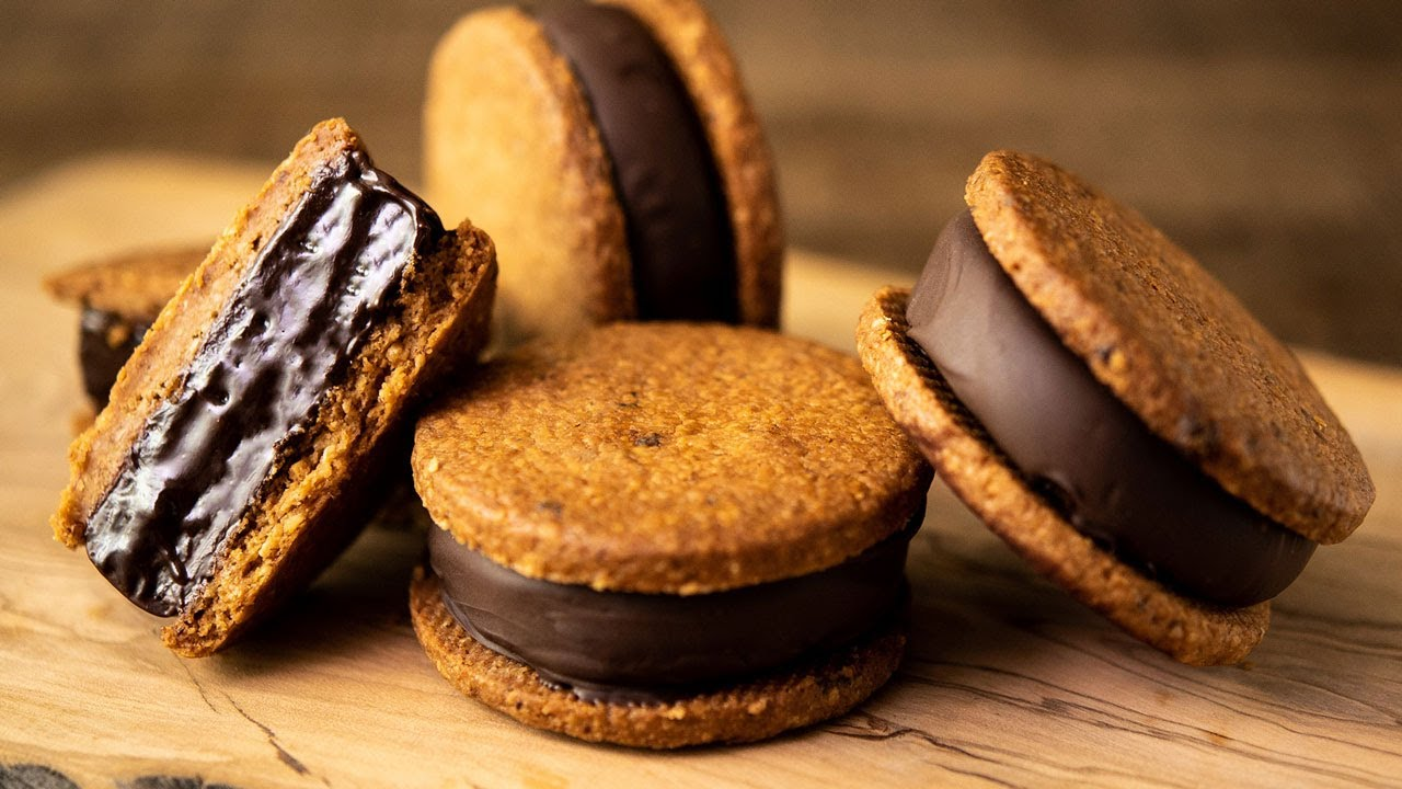 チョコレートガナッシュサンドクッキーの作り方 Chocolate Ganache Sandwich Cookies
