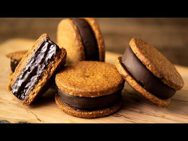 チョコレートガナッシュサンドクッキー Chocolate Ganache Sandwich Cookies