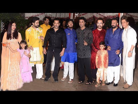 Ambani's GRAND Ganpati 2017 Party Full Video HD - Salman,Aishwarya,Ranbir,Shahrukh,Aamir