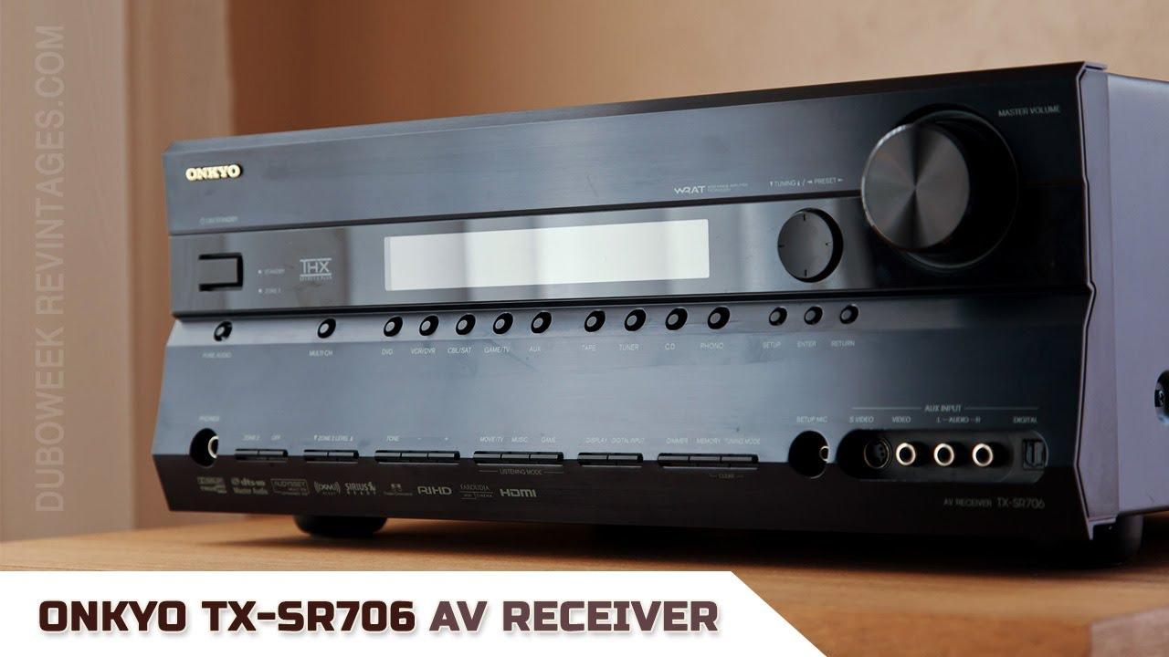 Onkyo tx-sr706 av receiver manuals.