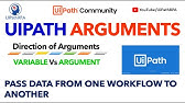 UiPath Studio - Variables - Passing Data Inside a Workflow - YouTube