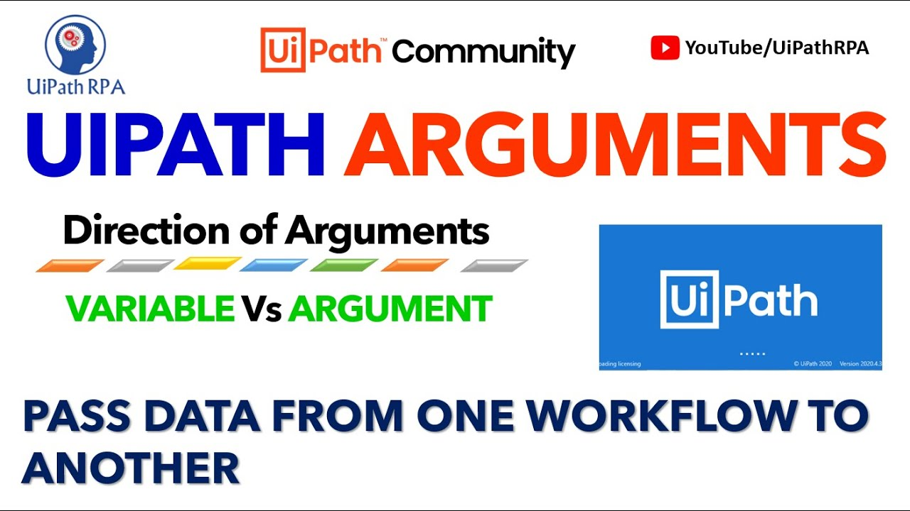 UiPath Arguments Project Organization UiPath RPA Tutorial