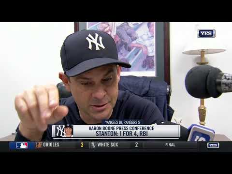 Aaron Boone raves about the Yankees hot play