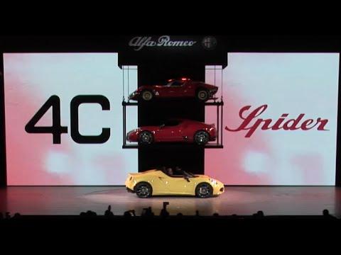 2015 Alfa Romeo 4C Spider Reveal | 2015 North American International Auto Show | Alfa Romeo USA